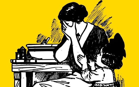 maman qui pleure